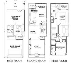 townhouse floor plans. Luxury Townhome Floor Plan Townhouse Plans
