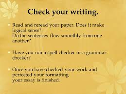 writing the report ppt video online  check your writing and re your paper does it make logical sense do