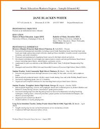 11 Master S Degree Resume Sample Informal Letters