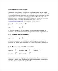 Template For Questionnaire Questionnaire Template 18 Free Word Document Downloads
