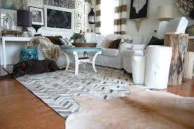 hide rug deer rugs for fringe faux canada hide rug