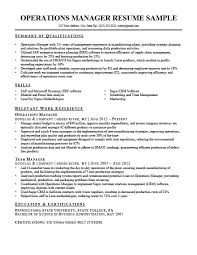 Operations Resume Examples Operations Manager Resume Sample Writing Tips Rc