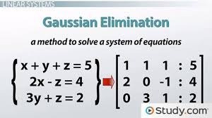 how to solve linear systems using gaussian elimination lesson transcript study com