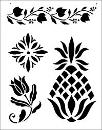 Budget Stencils Folk Art Stencil From The Stencil Library Budget Stencils