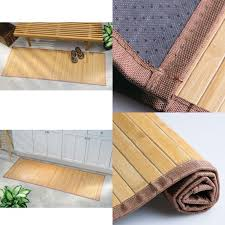 details about bamboo floor runner mats table area rug carpet 24x72 natural non slip bath