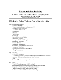 Database Testing Resumes Etl Testing Resume Amypark Us Resume Templates Printable Etl Tester
