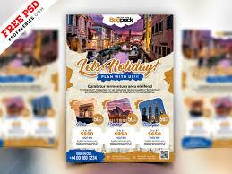Flyer Design Free Holiday Travel Flyer Design Psd Psdfreebies Com