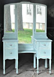 Three Way Vanity Mirror Serendipity Refined Blog Help With Your Diy 4 Chalk Painted