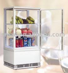 Glass Door Home Refrigerator Four Sides Transparent Refrigeratorglass Door Refrigerator