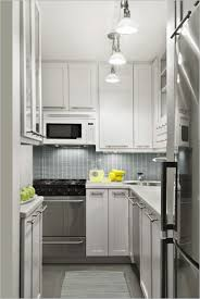 Stunning Galley Kitchens Designs For Small Kitchens : Inspiring Small  Galley Kitchen With Small Rectangular Tiles