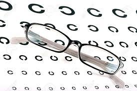 Eye Side Test Chart Black Glasses On A Eye Sight Test Chart