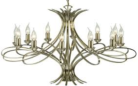 penn contemporary 12 light large brushed brass chandelier