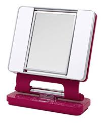 ott lite natural daylight makeup mirror pink white chrome 26 watt