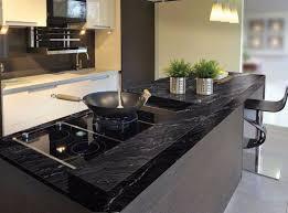 kitchens with black granite countertops in boston