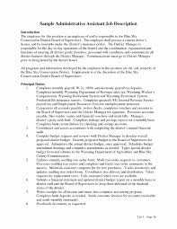 Executive Assistant Job Description Resume Executive assistant Sample Resume New Administrative assistant Job 2