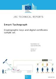Smart Tachograph Cryptographic Keys And Digital Certificates Sample