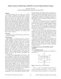 Finger Drain Design Pdf Model Analysis Of Multi Finger Mosfet Layout In Ring