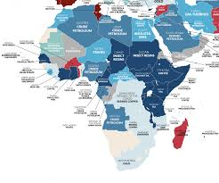 African Top Chart Map Top Uk Imports From African Middle Eastern Countries