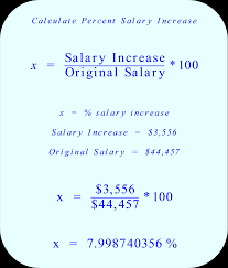 percent salary increase calculate the percent of salary increase