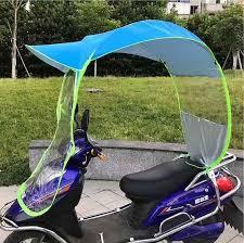 car motor scooter umbrella mobility sun shade rain cover safe diy blue purple