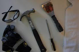 tools to remove glass tile backsplash