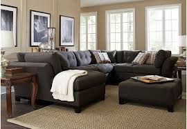 living room sectionals cindy crawford home metropolis slate 4 pc sectional