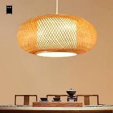 Asian style lighting Bamboo Light Bamboo Wicker Rattan Shade Pendant Light Fixture Ceiling Lamp Chandelier Asian Style Lights Barbey Light Pendant Lights Style Asian Hanging Light Fixtures Asian