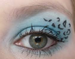 blue leopard print eyes and lips the basic make up items you