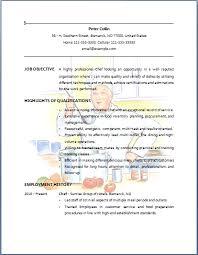 Bartender Resume Example Chef Resume Sample Job Resume Layout