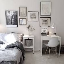 charming bedroom with small work space with ikea micke desk pinteres