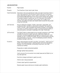 writing a job description template. Auditor Job Description Example 9 Free PDF Documents Download