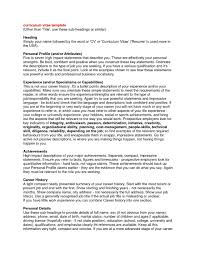 Resume How Write To Profile Summary For Examples Free Australia