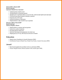 Resume Dental Sales Awesome Hygiene Resumes For Assistant