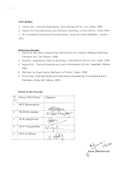Department of Mechanical Engineering Course plan Section details ...