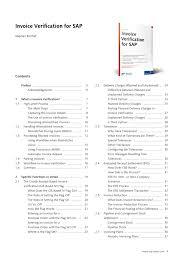 Invoice Verification For Sap - Docshare.tips