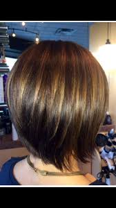 Graduated Bob With Caramel Highlights To