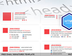 Email Signature Html Professional Email Signatures Template Esignatures Vol2 On Behance
