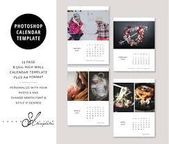 Photoshop Calendar Template 2020 2020 Calendar Photoshop Photo Template Wall Calendar Monthly Calendar Christmas Gift C2020a Instant Download