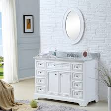 single white bathroom vanities. Derby 48 Inch Traditional Bathroom Vanity Marble Countertop . Single White Vanities