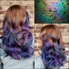 Oilslick Hair Haircolor Vivid Color Purplehair