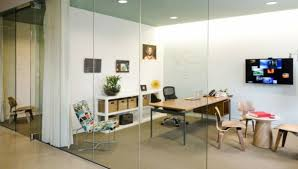 smart office design glass sliding door of colorful chair architects sliding door office