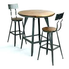 small round pub table bar height bistro black