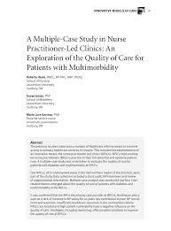 Pdf A Multiple Case Study In Nurse Practitioner Led Clinics