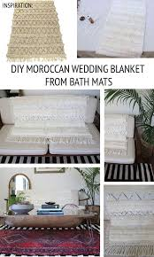 dough bowl turned coffee table bath mat turned moroccan wedding blanket 4