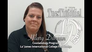 LJIC #TuesTimonial with Hilary D. from Fort Dodge! - La' James  International College