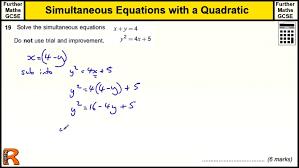 adorable simultaneous equation quadratic gcse further maths revision solution solver large size