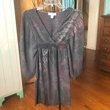 Foxblood Size Chart Blue Sky Prpl Tie Dye Kimono Sleeve Dress Med