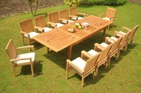 13 pc grade a teak wood dining set 122 atnas double extension rectangle