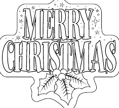 Merry Christmas Coloring Pages Printables For