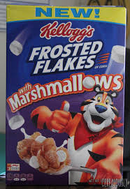 frosted flakes with marshmallows box